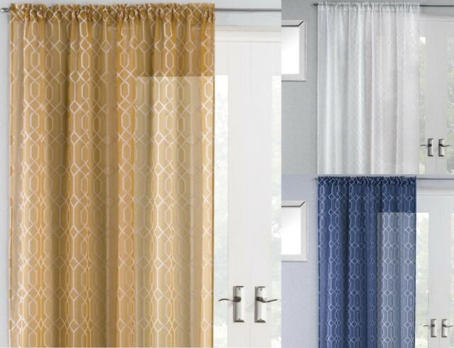 Hoxton Luxury Plain Slot Top Single Panel Net Sheer Voile Modern Door  Curtain Within Extra Wide White Voile Sheer Curtain Panels (View 28 of 50)