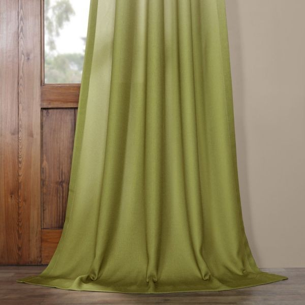 Hpd Half Price Drapes Felch Omb1704 108 Ombre Faux Linen Semi Sheer Curtain, Olive, 50 X 108 Price In Saudi Arabia | Compare Prices With Regard To Ombre Faux Linen Semi Sheer Curtains (View 11 of 50)