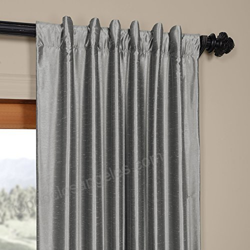 Hpd Half Price Drapes Half Price Drapes Pdch Kbs7 84 Vintage Throughout Storm Grey Vintage Faux Textured Dupioni Single Silk Curtain Panels (View 32 of 50)