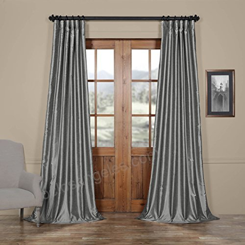 Hpd Half Price Drapes Half Price Drapes Pdch Kbs7 84 Vintage With Regard To Vintage Textured Faux Dupioni Silk Curtain Panels (#39 of 50)