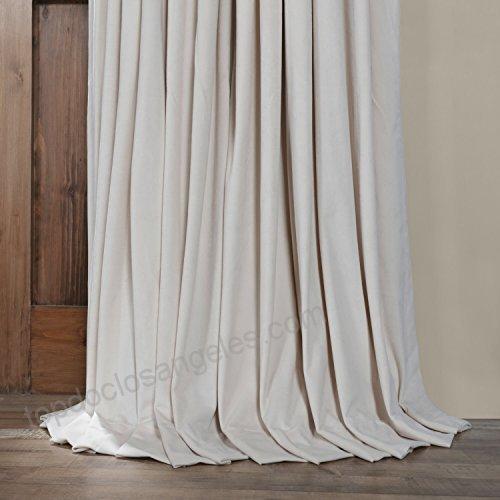 Hpd Half Price Drapes Half Price Drapes Vpch Vet1217 108 In Signature Ivory Velvet Blackout Single Curtain Panels (View 48 of 50)