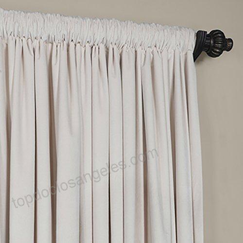 Hpd Half Price Drapes Half Price Drapes Vpch Vet1217 108 Intended For Signature Ivory Velvet Blackout Single Curtain Panels (View 37 of 50)