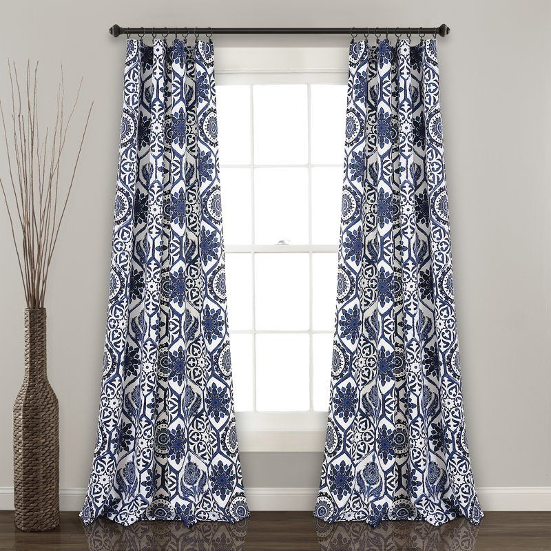 Hudgins Floral Room Darkening Rod Pocket Curtain Panels | A Regarding Dolores Room Darkening Floral Curtain Panel Pairs (View 10 of 35)