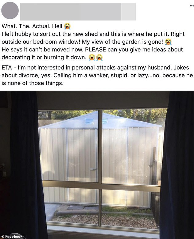 Husband Builds A Shed In The Most Bizarre Location | Daily Inside The Gray Barn Kind Koala Curtain Panel Pairs (View 20 of 50)