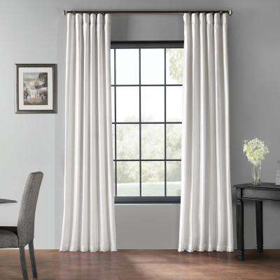 Inspiration about Ice White Blackout Vintage Textured Faux Dupioni Curtain – 50 In. W X 96  In. L With Regard To Cooper Textured Thermal Insulated Grommet Curtain Panels (#27 of 50)