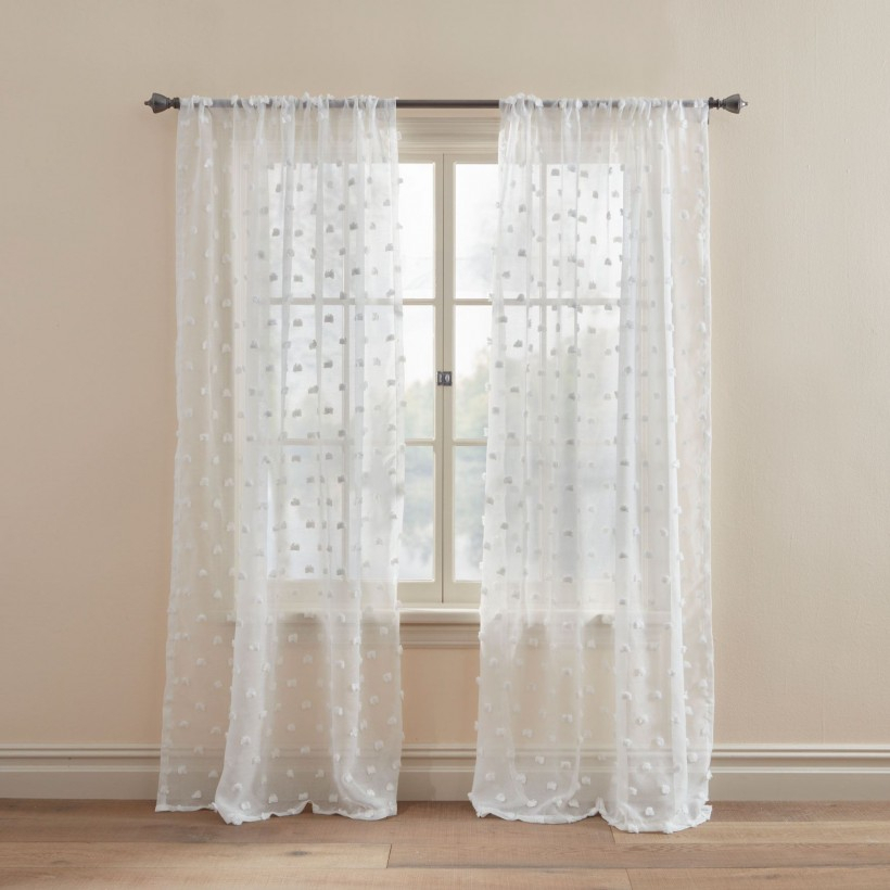 Ideas: Great White Sheer Curtains With Spectacular Double Intended For Double Layer Sheer White Single Curtain Panels (View 27 of 50)