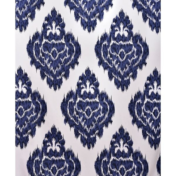 Ikat Blue Printed Cotton Curtain Panel – Overstock Shopping Pertaining To Ikat Blue Printed Cotton Curtain Panels (#24 of 50)