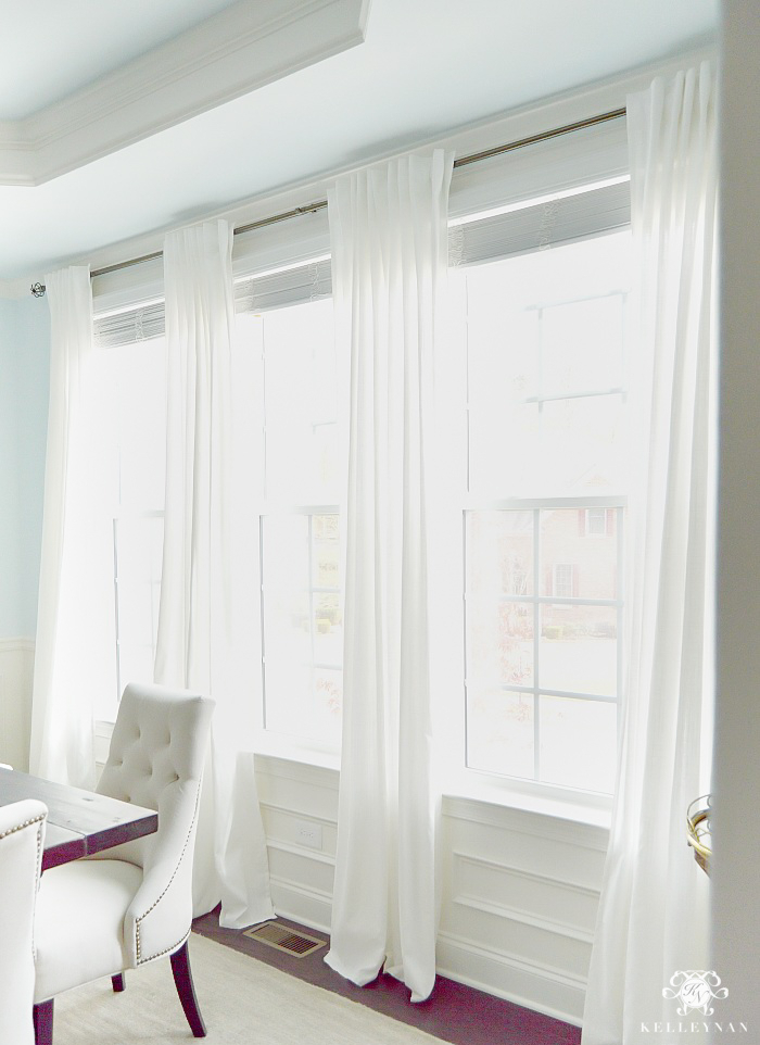Inspiration about Ikea Ritva Drapes: The Best Inexpensive White Curtains Inside Faux Linen Extra Wide Blackout Curtains (#28 of 50)