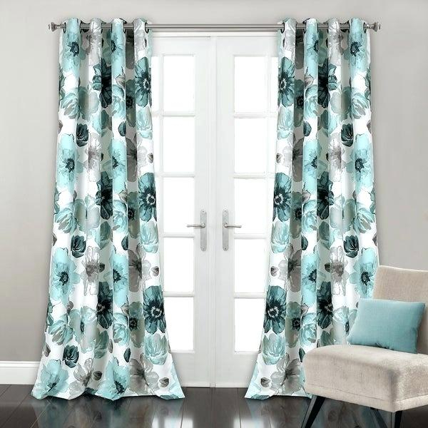 Inspiration about Image 0 Blue Floral Curtains Curtain Panels – Nickelalloys.co For Floral Pattern Room Darkening Window Curtain Panel Pairs (#34 of 44)