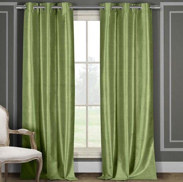 Popular Photo of Overseas Faux Silk Blackout Curtain Panel Pairs