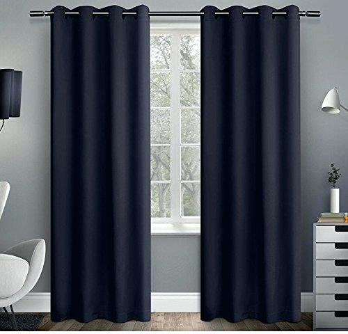 Inspiration about Inch Girls Blue Solid Color Blackout Curtains Panel Pair Inside Solid Insulated Thermal Blackout Long Length Curtain Panel Pairs (#50 of 50)