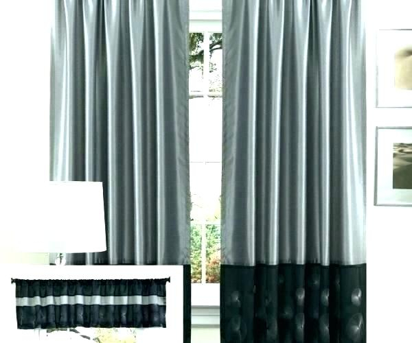 Inch Long Curtains Window Curtain Panels Wide Sheer Wavy Throughout Wavy Leaves Embroidered Sheer Extra Wide Grommet Curtain Panels (#27 of 50)