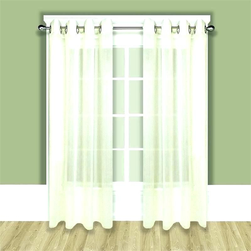 Inspiration about Inch Wide Curtain Panels Eff Solid Sheer Voile Double Window Within Signature Extrawide Double Layer Sheer Curtain Panels (#28 of 50)