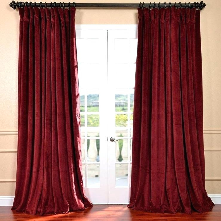 Inch Wide Curtains Inspiration House Mesmerizing Half Price Throughout Signature Ivory Velvet Blackout Single Curtain Panels (#17 of 50)