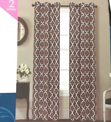 """Inspiration about Indecor Home Design Grommet Top Faux Slub Window Panels Chocolate 40"""" X 84""""  