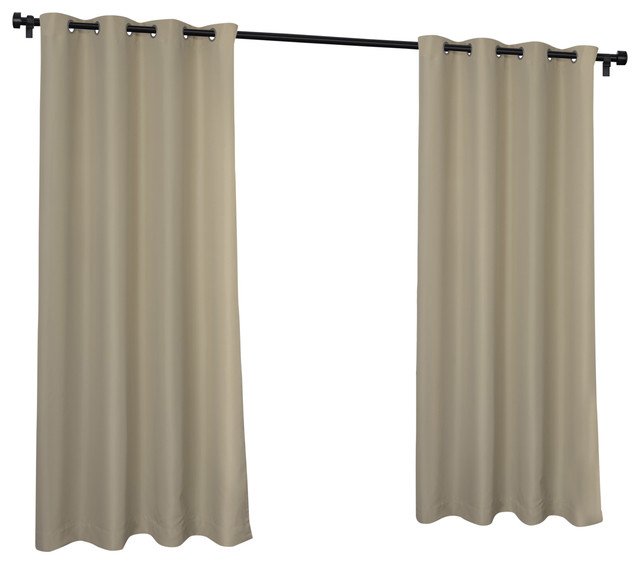 Inspiration about Indoor/outdoor Cabana Grommet Top Window Curtain Panel Pair, 54X120, Taupe With Regard To Indoor/outdoor Solid Cabana Grommet Top Curtain Panel Pairs (#1 of 48)
