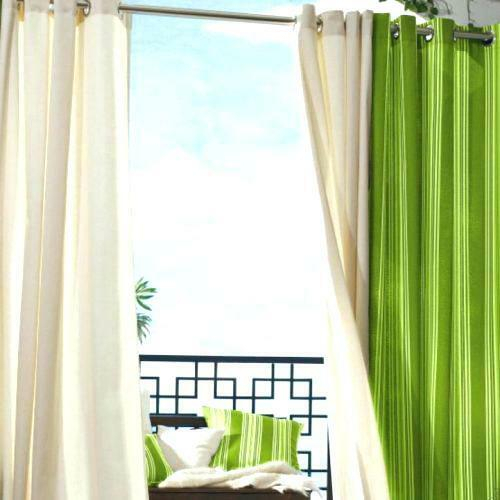 Inspiration about Indoor Outdoor Curtains – Wilmingtoncontractors Regarding Valencia Cabana Stripe Indoor/outdoor Curtain Panels (#15 of 37)