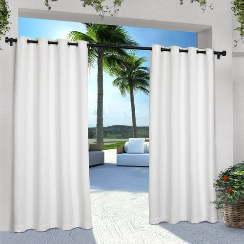 Inspiration about Indoor/outdoor Solid Cabana Grommet Top Window Curtain Panel For Delano Indoor/outdoor Grommet Top Curtain Panel Pairs (#6 of 45)