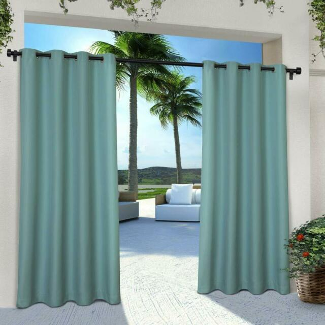 Inspiration about Indoor/outdoor Solid Window Curtain Panel Mildew Resistant Grommet Top, One  Pair Regarding Patio Grommet Top Single Curtain Panels (#29 of 38)