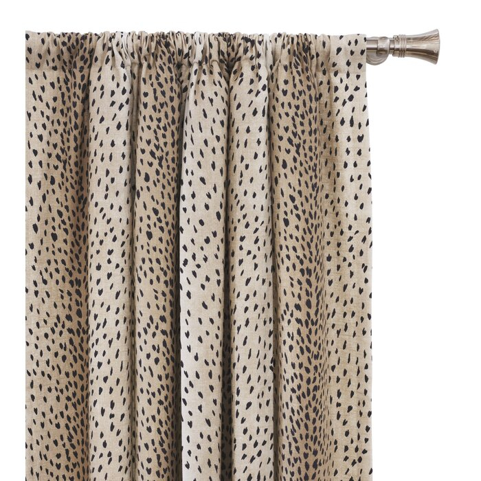 Inès Spotted Animal Print Room Darkening Rod Pocket Single Curtain Panel Regarding Inez Patio Door Window Curtain Panels (#27 of 50)