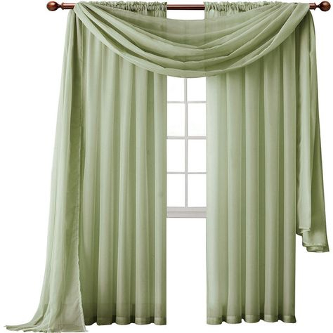 Inspiration about Infinity Sheer Rod Pocket Curtain Panel ($8.99) ❤ Liked On Within Infinity Sheer Rod Pocket Curtain Panels (#16 of 50)