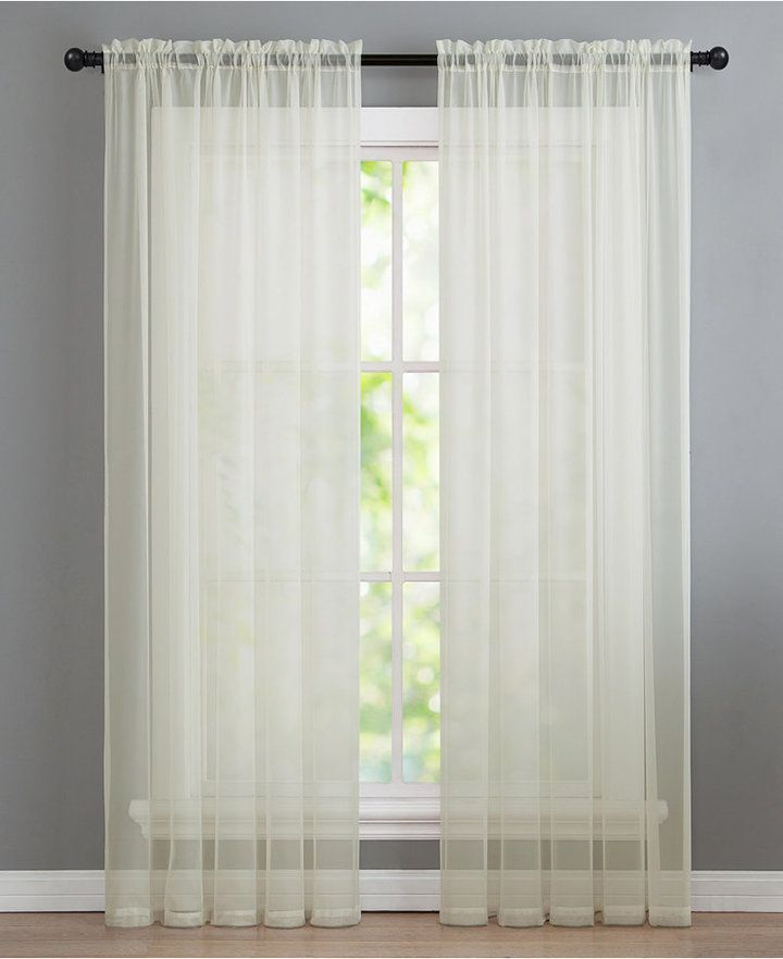 Infinity Sheer Window Panels And Valances | Products | Panel With Regard To Infinity Sheer Rod Pocket Curtain Panels (#19 of 50)