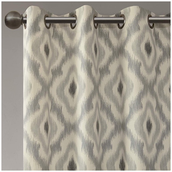 """Inspiration about Ink+Ivy 108"""" Pair Ikat Curtains Intended For Ink Ivy Ankara Cotton Printed Single Curtain Panels (#7 of 50)"""