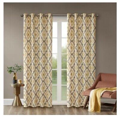 Inspiration about Ink+Ivy Ankara Cotton Printed Panel – $40.94 | Picclick In Ink Ivy Ankara Cotton Printed Single Curtain Panels (#4 of 50)