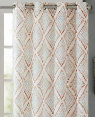 """Inspiration about Ink+Ivy Bas Etched Diamond Print Grommet Panel 50""""w X 95""""l Pertaining To Ink Ivy Ankara Cotton Printed Single Curtain Panels (#31 of 50)"""