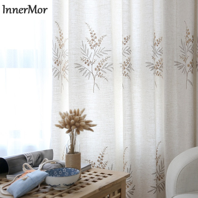 Innermor Faux Linen Solid Curtains For Living Room Throughout Heavy Faux Linen Single Curtain Panels (View 23 of 32)