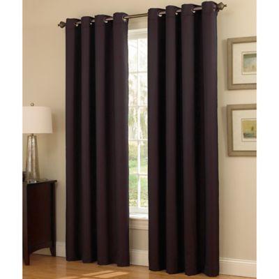 "Insola Dorian Thermalayer Grommet Top 108"" Window Curtain Regarding Sugar Creek Grommet Top Loha Linen Window Curtain Panel Pairs (View 35 of 50)"