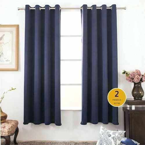 Inspiration about Insulated Blackout Curtains – Getcraze.co For Twig Insulated Blackout Curtain Panel Pairs With Grommet Top (#8 of 50)
