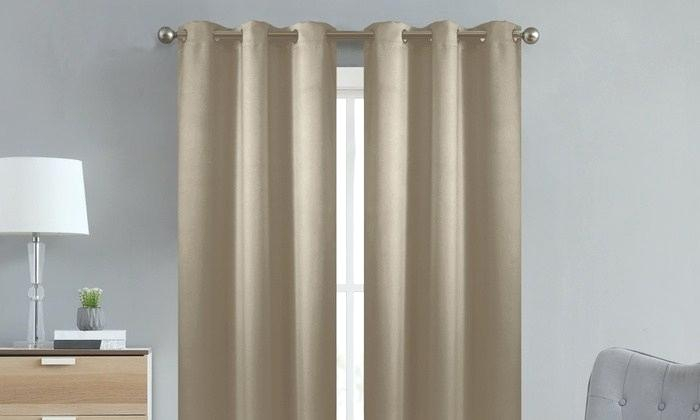 Inspiration about Insulated Blackout Curtains – Yildizkurt.co Regarding Twig Insulated Blackout Curtain Panel Pairs With Grommet Top (#45 of 50)