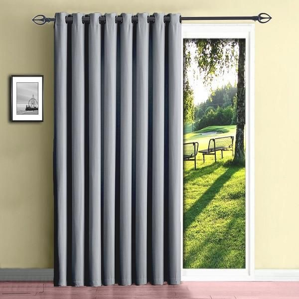 Insulated Blackout Sliding Door Or Patio Door Curtains In 5 In Nantahala Rod Pocket Room Darkening Patio Door Single Curtain Panels (#18 of 50)