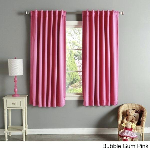 Inspiration about Insulated Drapes Aurora Home Solid Thermal Inch Blackout Regarding Insulated Grommet Blackout Curtain Panel Pairs (#22 of 50)