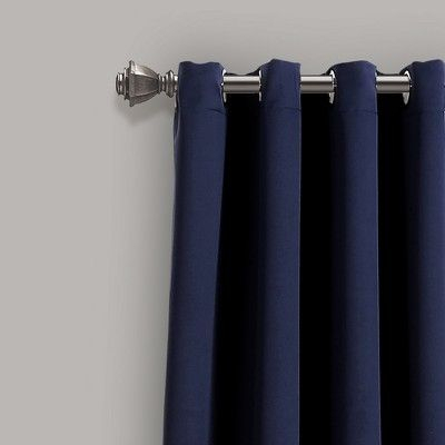 Insulated Grommet Blackout Curtain Panels Navy Pair Set 95 Within Insulated Grommet Blackout Curtain Panel Pairs (View 34 of 50)