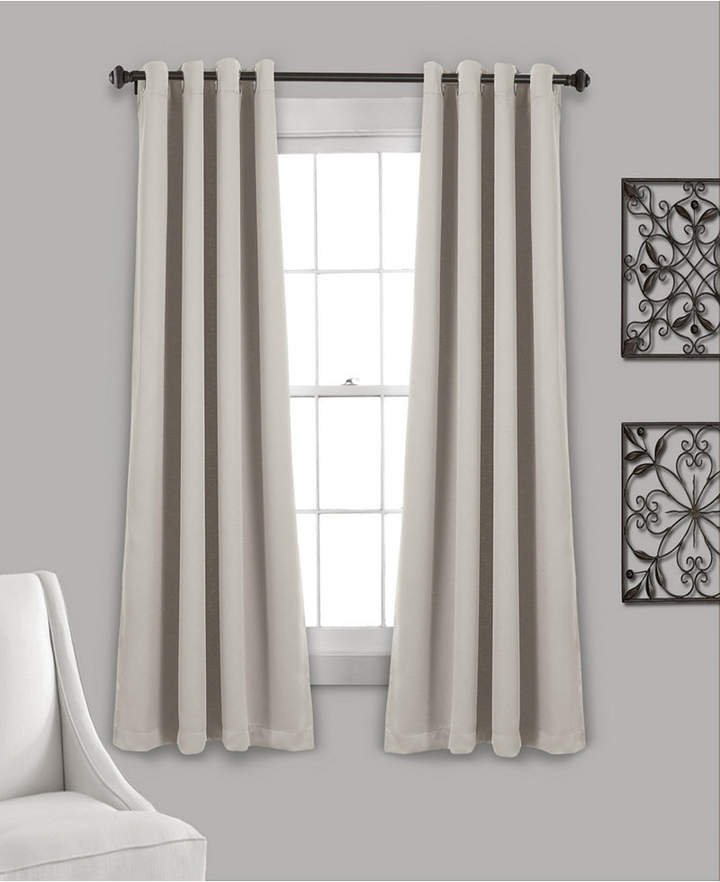"Insulated Grommet Blackout Curtain Panels Pair Set, 63"" X 52"" Inside Cynthia Jacobean Room Darkening Curtain Panel Pairs (View 17 of 41)"