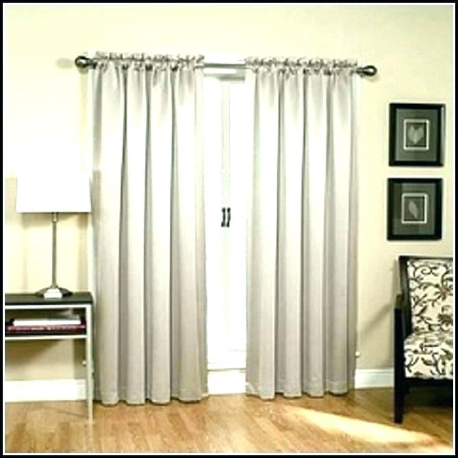 Insulated Patio Door Curtains Thermal Grommet Top Blackout X In Grommet Blackout Patio Door Window Curtain Panels (View 14 of 50)