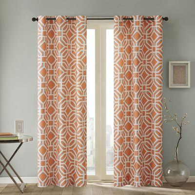 """Intelligent Design Maci Single Curtain Panel Size: 42"""" W X With Regard To Cyrus Thermal Blackout Back Tab Curtain Panels (#17 of 39)"""