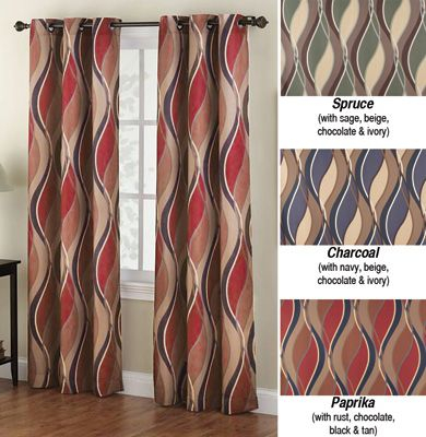 Inspiration about Intersect Wave Grommet Top Curtain Panel | Curtains In 2019 Within Intersect Grommet Woven Print Window Curtain Panels (#9 of 50)