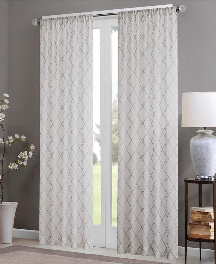 "Irina 50"" X 95"" Sheer Rod Pocket Curtain Panel Pertaining To Laya Fretwork Burnout Sheer Curtain Panels (View 24 of 38)"