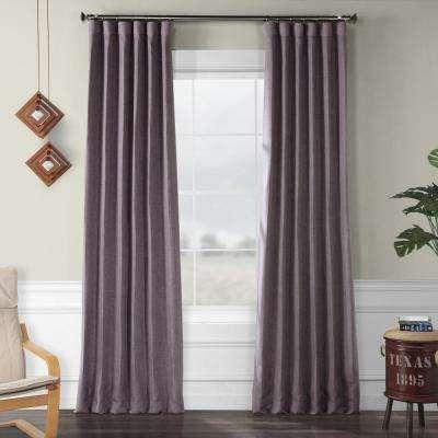 Iris Purple Faux Linen Blackout Curtain – 50 In. W X 108 In (View 29 of 40)