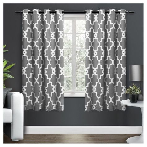 Ironwork Sateen Woven Room Darkening Window Curtain Panel With Edward Moroccan Pattern Room Darkening Curtain Panel Pairs (View 21 of 50)