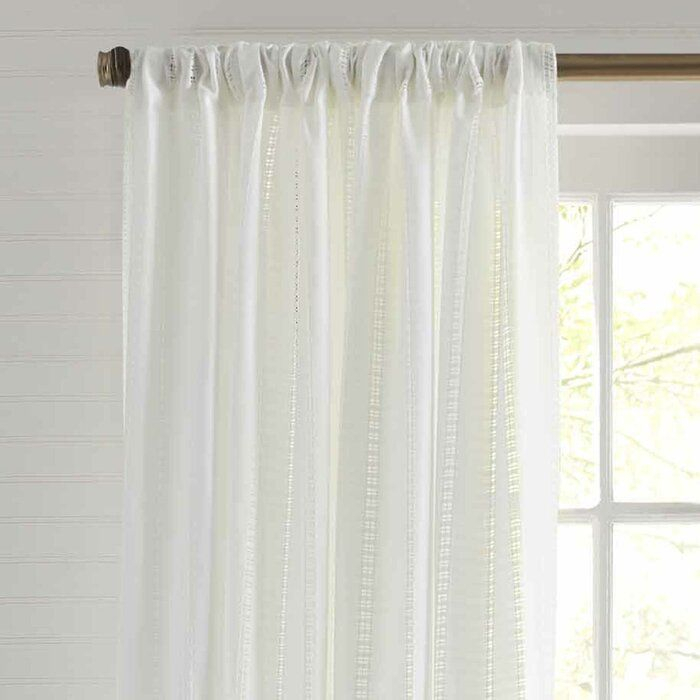 Inspiration about Island Eyelet Solid Semi Sheer Curtain Panels For Elrene Aurora Kids Room Darkening Layered Sheer Curtains (#33 of 40)