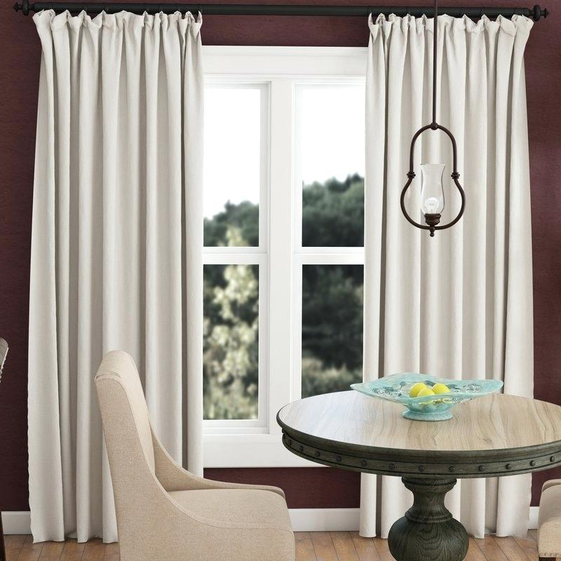 Ivory Blackout Curtains Throughout Signature Ivory Velvet Blackout Single Curtain Panels (#19 of 50)