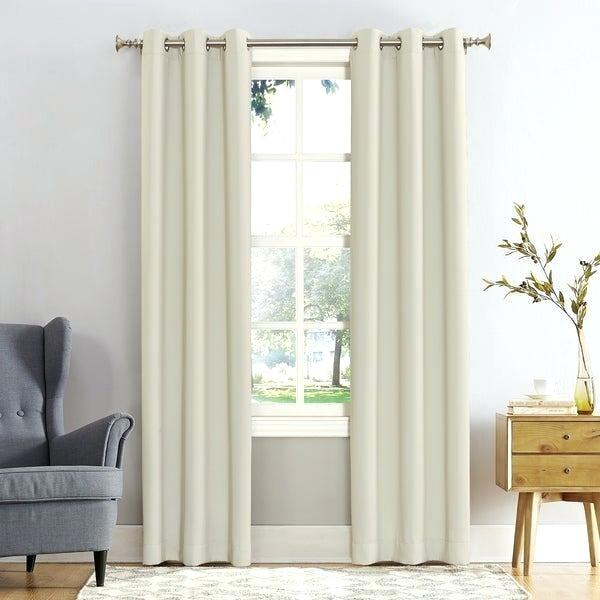 Ivory Blackout Curtains With Regard To Signature Ivory Velvet Blackout Single Curtain Panels (#20 of 50)