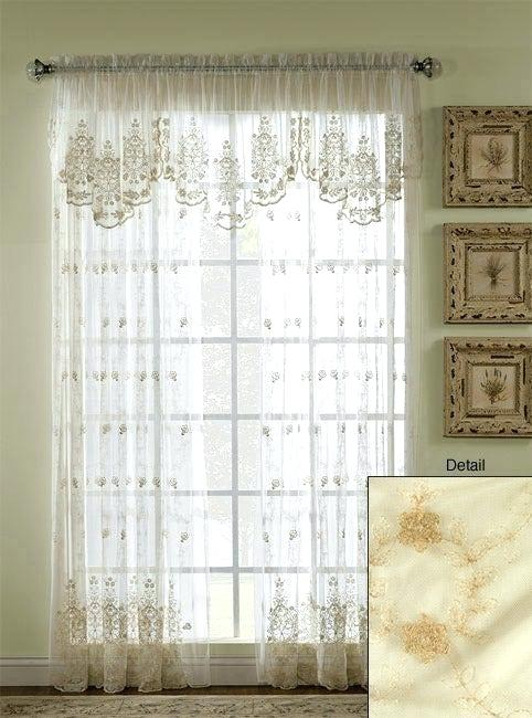 Ivory Lace Curtains – Torontostaffing (View 21 of 50)