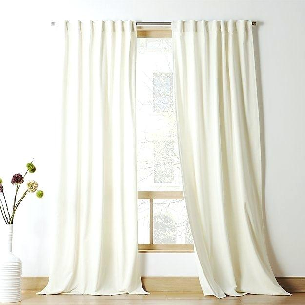 Ivory Velvet Curtains Curtain Panel Living Room Inspiration Regarding Signature Ivory Velvet Blackout Single Curtain Panels (View 18 of 50)