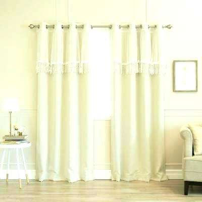 Ivory Velvet Curtains Curtain Panel Set In A Liked On Inside Signature Ivory Velvet Blackout Single Curtain Panels (#24 of 50)