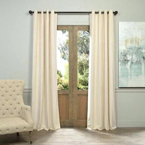 Ivory Velvet Curtains Half Price Drapes Signature Grommet X Regarding Signature Blackout Velvet Curtains (#21 of 50)